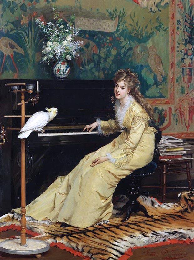 Дамы с птицами и животными глазами великих художников