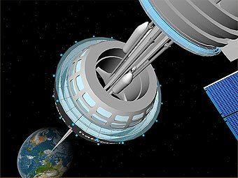Один из вариантов лифта в космос. Изображение с сайта myreviews101.com